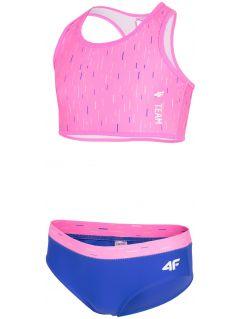Kostium kąpielowy dla dużych dziewcząt JKOS207 - różowy
