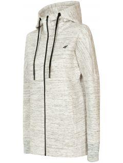 Bluza damska BLD214 - chłodny jasny szary melanż