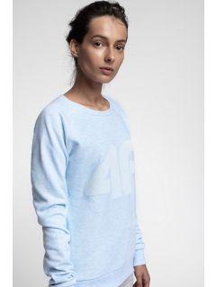 Bluza damska BLD300 - jasny niebieski melanż