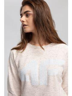 Bluza damska BLD405 - pudrowy koral melanż