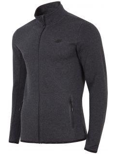 Bluza męska BLM302 - ciemny szary melanż