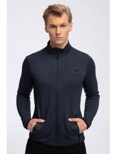 Bluza męska BLM302 - denim melanż