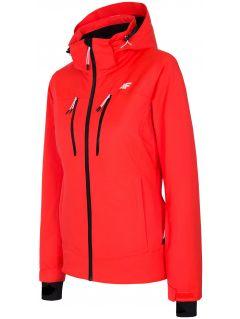 Kurtka narciarska damska KUDN251A - czerwony neon