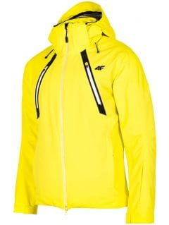 Kurtka narciarska męska KUMN153 - żółty