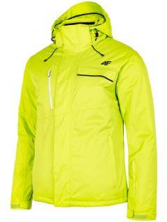 Kurtka narciarska męska  KUMN253 - soczysta zieleń