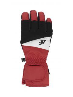 Rękawice narciarskie męskie REM350 - czerwony