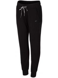 Spodnie dresowe damskie SPDD203 - głęboka czerń