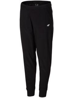 Spodnie treningowe damskie SPDF304 - głęboka czerń