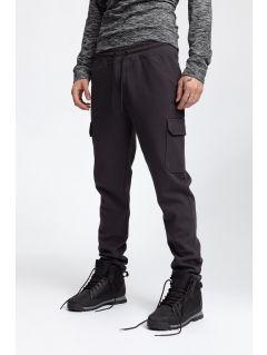Spodnie dresowe męskie SPMD257 - ciemny szary melanż