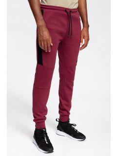 Spodnie dresowe męskie SPMD259 - burgund