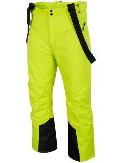Spodnie narciarskie męskie SPMN251 - soczysta zieleń