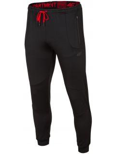 Spodnie treningowe męskie SPMTR200 - głęboka czerń