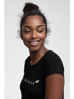 T-shirt damski TSD217 - głęboka czerń