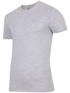 T-shirt męski TSM255 - szary melanż