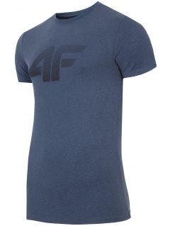T-shirt męski TSM301 - denim melanż