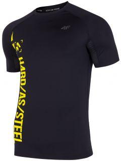 Koszulka treningowa męska TSMF152 - głęboka czerń  allover