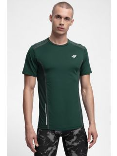 Koszulka do biegania męska TSMF216 - ciemna zieleń