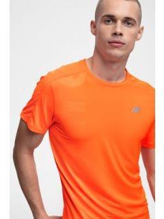 Koszulka treningowa męska TSMF257 - pomarańcz neon