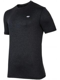 Koszulka treningowa męska TSMF301 - czarny melanż