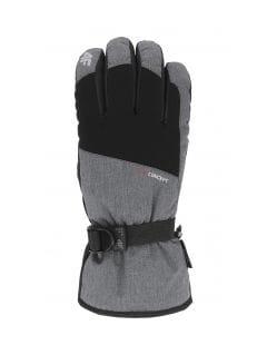 Rękawice narciarskie męskie REM002 - średni szary melanż