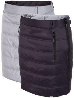 Dwustronna spódnica puchowa SPUD001 - głęboka czerń