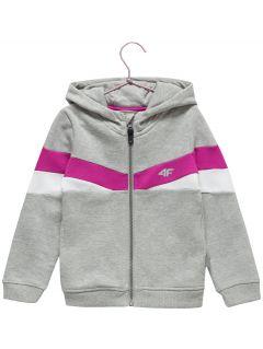 Bluza dla małych dzieci (dziewcząt) JBLD101 - chłodny jasny szary melanż
