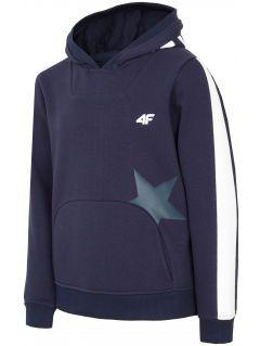 Bluza dla dużych dzieci (dziewcząt) JBLD212 - ciemny granat