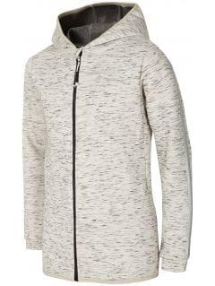 Bluza dla dużych dzieci (dziewcząt) JBLD400 - chłodny jasny szary melanż