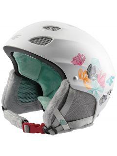 Kask narciarski dla dużych dzieci (dziewcząt) JKSD400 - biały