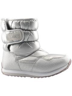 Buty zimowe dla dużych dzieci (dziewcząt) JOBDW205 - srebrny
