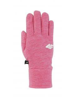 Rękawiczki dla dużych dzieci (dziewcząt) JRED200 - fuksja melanż