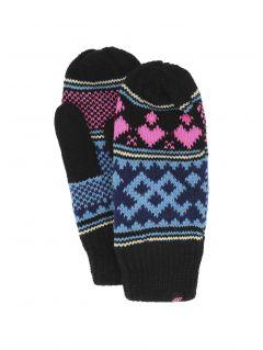 Rękawiczki dla dużych dzieci (dziewcząt) JREDD200 - głęboka czerń