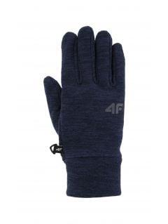 Rękawiczki dla dużych dzieci (chłopców) JREM200 - granat melanż