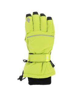 Rękawice narciarskie dla dużych dzieci (chłopców) JREM401 - soczysta zieleń