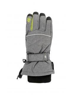 Rękawice narciarskie dla dużych dzieci (chłopców) JREM403 - szary melanż