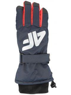 Rękawice narciarskie dla dużych dzieci (chłopców) JREM404 - granat