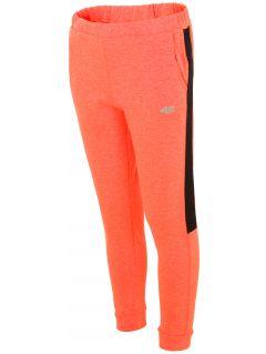 Spodnie dresowe dla dużych dzieci (dziewcząt) JSPDD203 - pomarańczowy neon