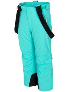Spodnie narciarskie dla dużych dzieci (dziewcząt) JSPDN401 - mięta