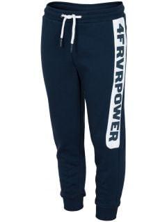 Spodnie dresowe dla dużych dzieci (chłopców) JSPMD212 - granat