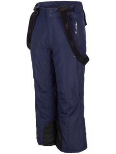 Spodnie narciarskie dla dużych dzieci (chłopców) JSPMN400 - granat