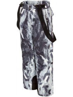 Spodnie narciarskie dla dużych dzieci (chłopców) JSPMN401 - multikolor allover