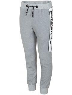 Spodnie sportowe dla dużych dzieci (chłopców) JSPMTR405 - szary melanż