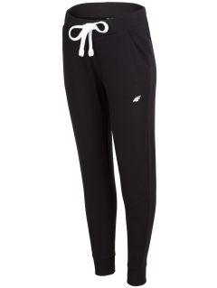 Spodnie dresowe damskie SPDD300 - głęboka czerń