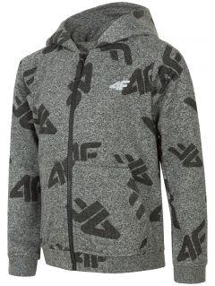 Bluza dla dużych dzieci (chłopców) JBLM217 - ciemny szary melanż