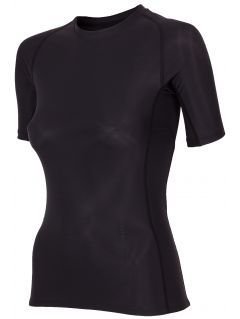 Koszulka kompresyjna damska 4FPro TSDF400A - czarny