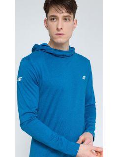 Bluza treningowa męska BLMF003 - denim melanż