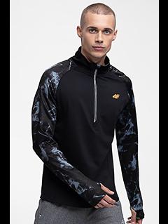 Bluza do biegania męska BLMF250 - głęboka czerń allover