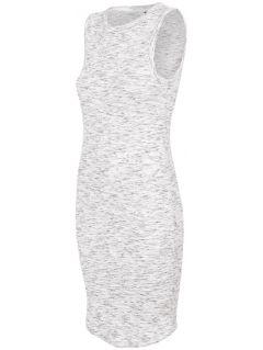 Sukienka damska SUDD445 - ciepły jasny szary  melanż