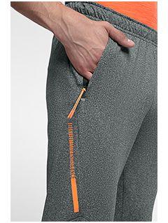 Spodnie treningowe męskie SPMTR201 - średni szary melanż