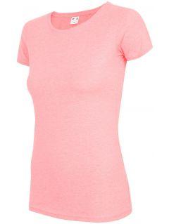 T-shirt damski TSD300 - łososiowy melanż